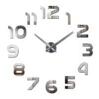 Новые горячие наклейки на стену часы Акриловые кварцевые материал домашний Декор Гостиная Европа numberdiy наклейки натюрморт