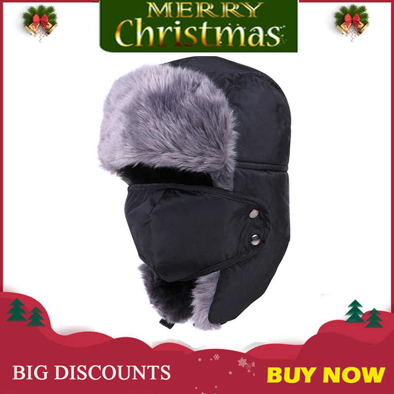 d6c3534cce730 Winter Motorcycle Face Mask Maske Moto Trapper Trooper Hat Balaclava Cap  Windproof Warm Flap Ski Hunting