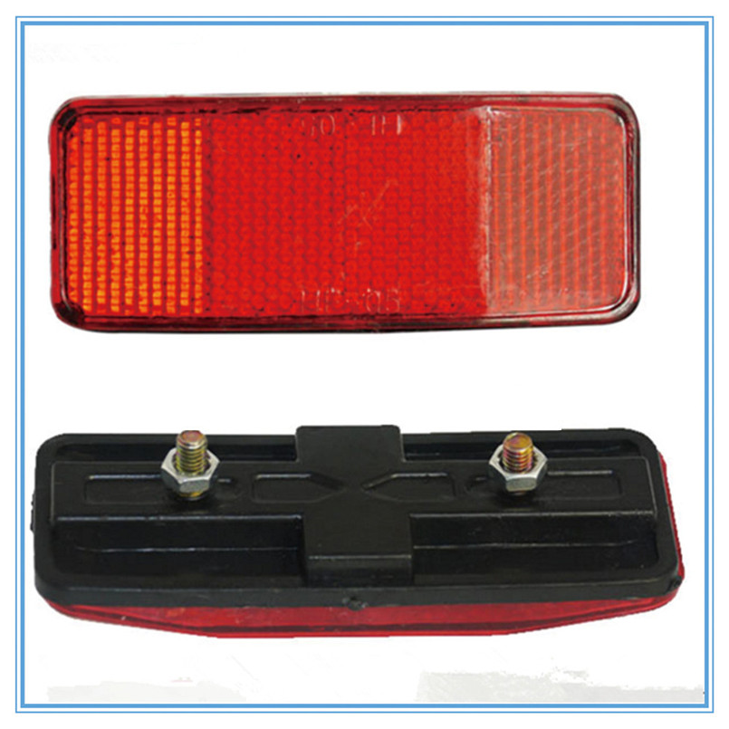 Bicycle Plastic Side Light Reflective Taillights MTB Bike Safety Caution Warning Reflector Disc Rear Pannier Racks 30ST08 (5)