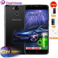 Geschenke Pack Blackview P2 4G + 64G 6000 mAh 9V2A Quick Charge 5,5 ''MTK6750T Octa Core Fingerprint ID 13.0MP Volle Metall Handy