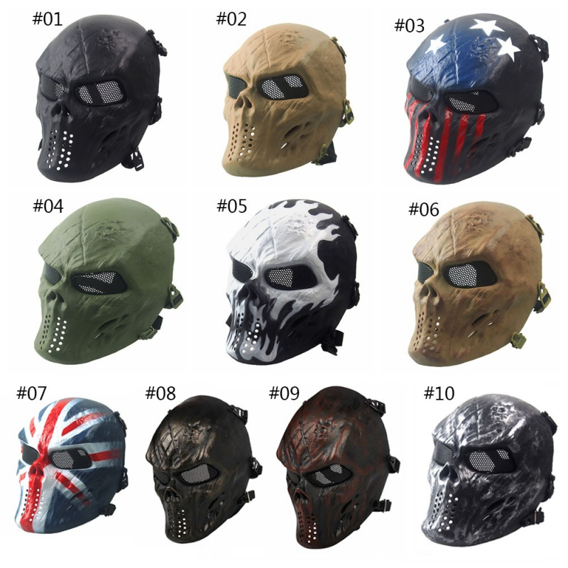 Back To Search Resultshome Outdoor Wargame Mask Cs Paintball Airsoft Skull Warrior Full Face Mask Field Hunting Masks Phantom Military Tactical Perfect In Workmanship