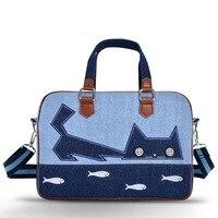 Luxury Brand Denim Shoulder Handbag Laptop Bag 11 12 13 13 3 14 15 15 6