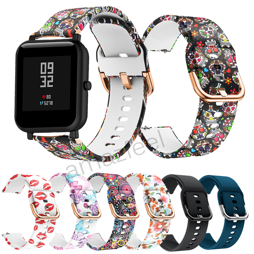 New Silicone Band For Amazfit Bip Strap Soft Rubber Belt For Huami Amazfit Bip Gtr 42mm Gts Smartwatch Bracelet Watch Strap 20mm