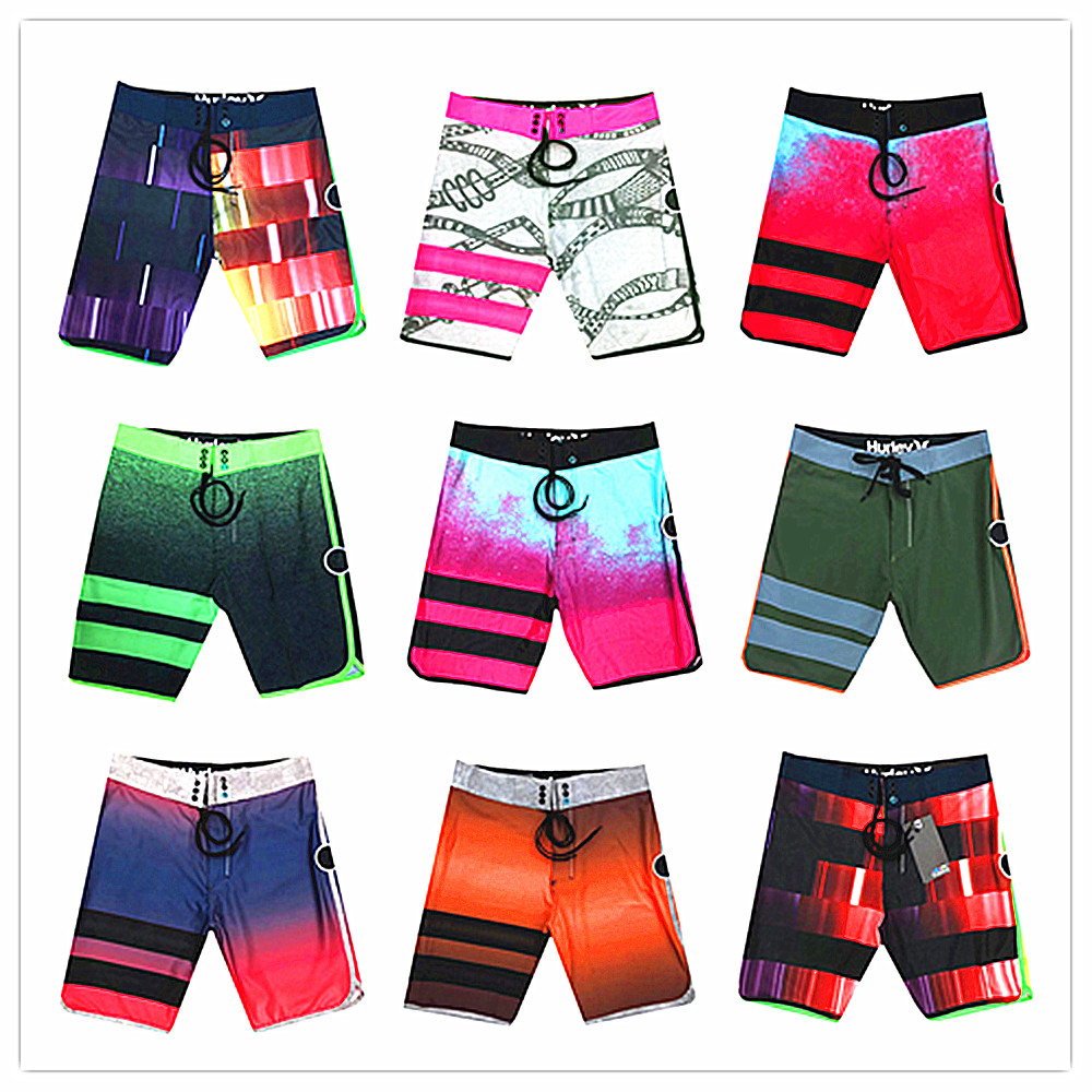 2019 Brand Phantom Elastic Beach   Board     Shorts   Mens 100% Quick Dry Sexy Spandex Boardshorts Sportswear Black White Pink Red Green