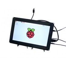 module Waveshare 10.1inch HDMI LCD (H) (with case) Capacitive Touchscreen Display for Raspberry Pi B+ 2 B/ 3 B & BB Black Video