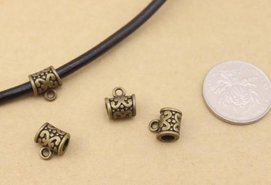 20pcs Antique silver plated bowknot pendant connector T0222