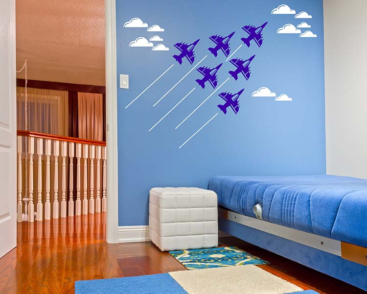 Airplane Wall Sticker Diy Baby Nursery Wall Decal Kids