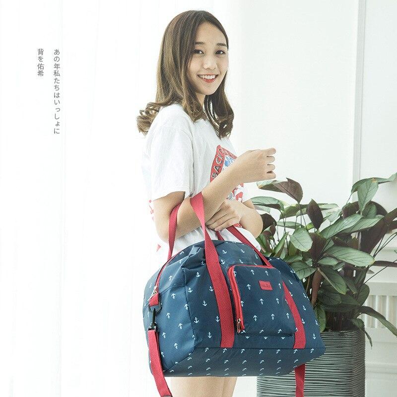 New Folding Travel Bag WaterProof Bag Large Capacity Unisex Luggage Packing Women Nylon Travel Handbags цена 2017