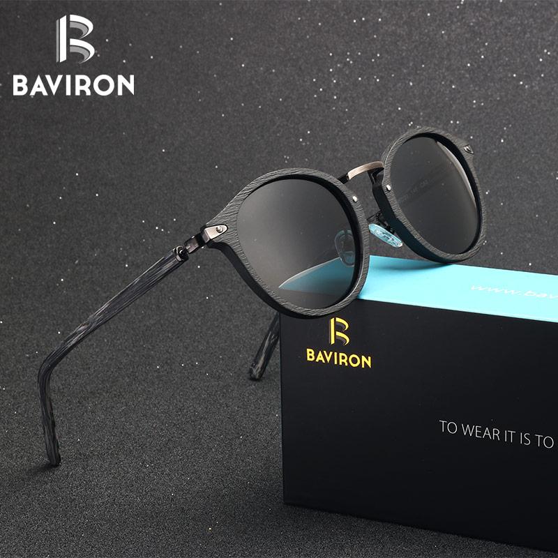 BAVIRON 2018 Acetate Plate Sunglasses Unisex Retro Sun Glasses Round Hand Making Polarized Glasses General Popular