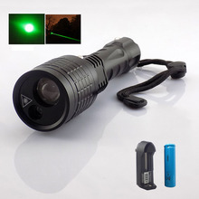 Cheap price 2 In 1 Led Flashlight With Green Laser Pointer Lazer Light Search Led Light 800 Lumen Led Flash Light Lamps For Hunting Fishing