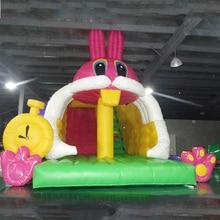 PVC inflatable slide inflatable slide jumping bouncer house for kids
