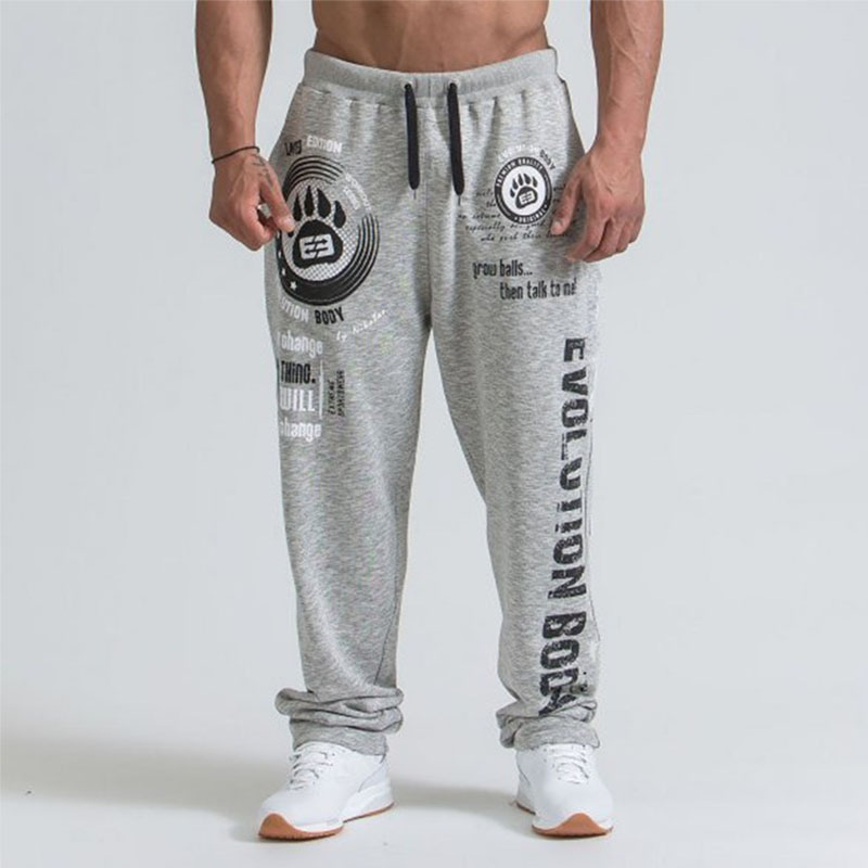 Qualety men sweatpants Gym joggers cotton Casusl trousers Letter Print Lacing mens hip hop streetwear 2019 summer Spring new in Sweatpants from Men 39 s Clothing