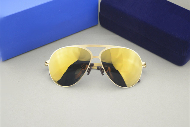 b9a7f79760 Famous sunglasses brand designer Franz celebrity mykita sepp mirror  sunglasses men pilot aviator beach sun glasses