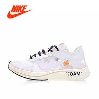Оригинальный Nike Zoom Fly SP 4% X Off White Для мужчин дышащие кроссовки Спорт на открытом воздухе Аутентичные кроссовки для Для мужчин AJ4588 100