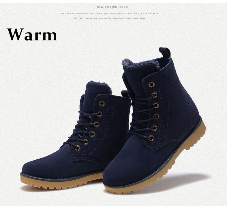 c68ace29a47 Free shipping 2015 fashion winter shoes women's winter suede boots for men  ladies snow boot botines mujer chaussure femme-in Ankle Boots from Shoes on  ...