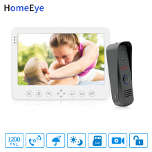 HomeEye 7inch Video Door Phone Video Intercom Doorbell 1200TVL Rainproof Support Video Record Unlock Door Security Access System yobangsecurity home security video door phone system 7inch video doorbell door intercom rfid access control 1 camera 5 monitor