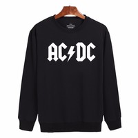 2017 Rock And Roll AD DC Sweatshirt Men Black Cotton Classic Harajuku Mens Hoodies Mens Hip