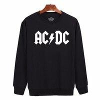 2017 Rock And Roll AD DC Sweatshirt Men Black Cotton Classic Harajuku Mens Hoodies Mens Hip