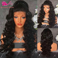 Lace Front Synthetic Body Wave Wigs Heat Resistant Synthetic Lace Front Wigs For Black Women Black Front Lace Wig Synthetic