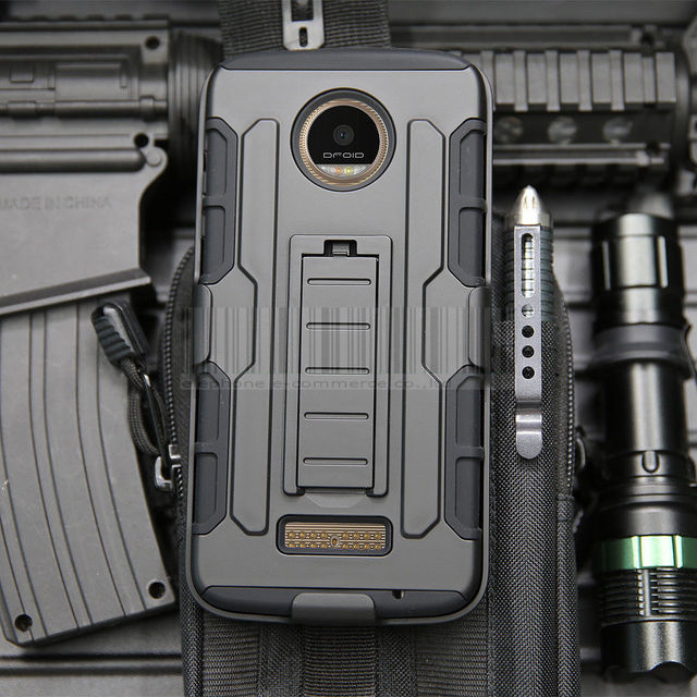 Hybrid Armor Cases Belt Clip Holster Shockproof Shell Covers For Motorola Moto Z XT1650/Z Force/Z Play Droid/E3/X Style/G4 Plus@