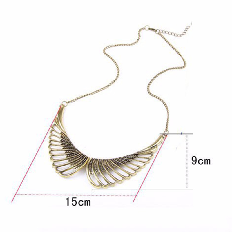 Hualuo New Fashion Female Chokers Necklaces Jewelry Alloy Pierced