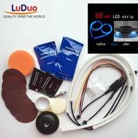 Headlamp Brightener Kit DIY Headlight Restoration With Led Light Strip For Car Lamp Lenses Clean Polish