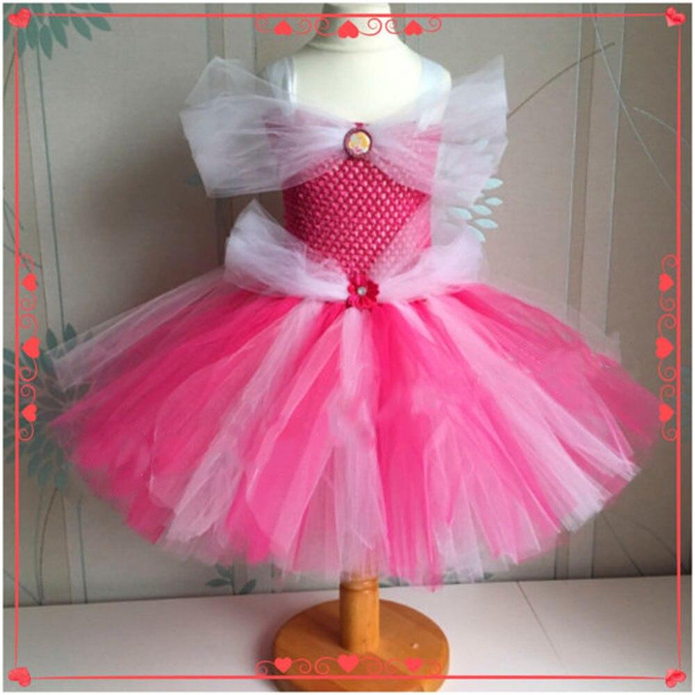 Tutú de la princesa Bella y la Bestia Vestido de Niña de las Flores ...