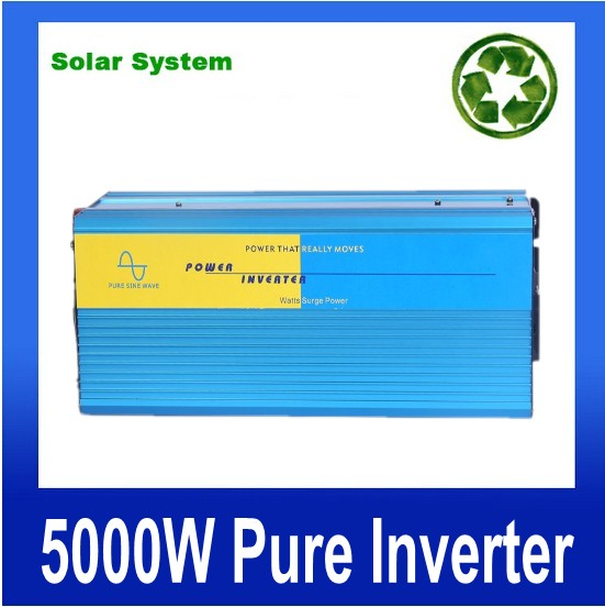10000W peak Free Shipping 5000W Power Inverter Pure Sine Wave DC 24V to AC 220V Solar/Wind/Car/Gas Power Generation Converter
