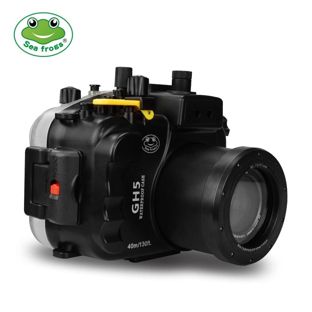 Boîtier de caméra de Sport sous-marin boîtier étanche pour Panasonic GH5 sous-marin 40 m Support de photographie toute fonction boîtier de protection