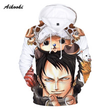Aikooki 2018 New 3d One Piece Hoodies Men Sweatshirt Hoodie 3d Print