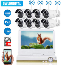 8CH Wireless NVR Kit Wifi CCTV System 1080P P2P Indoor Outdoor Security IP Camera Video Surveillance Set with 10