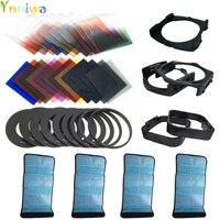 42 IN1 24 Filtro de color + 4 + 9 anillo adaptador + 2 holder + soporte de gran angular + parasol para cokin P + + número de seguimiento