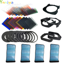 42 in1  24Color Filter +4 Cases+9 ring Adapter+2 holder+Wide-Angle Holder+lens hood  for Cokin P +free shipping +tracking number nisi 150mm filter holder for olympus 7 14mm lens square filter aviation aluminum quick realise square holder dhl free shipping