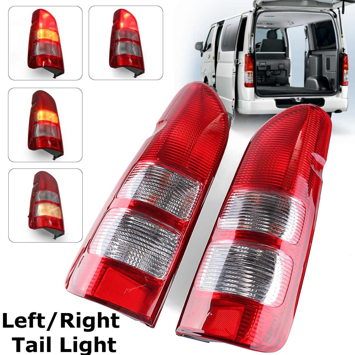 For Toyota Hiace Van 2005 06 07 08 09 2014LH RH Tail Light Lamp suit 200 Series with Wire harness and Halogen bulbs tail lamp