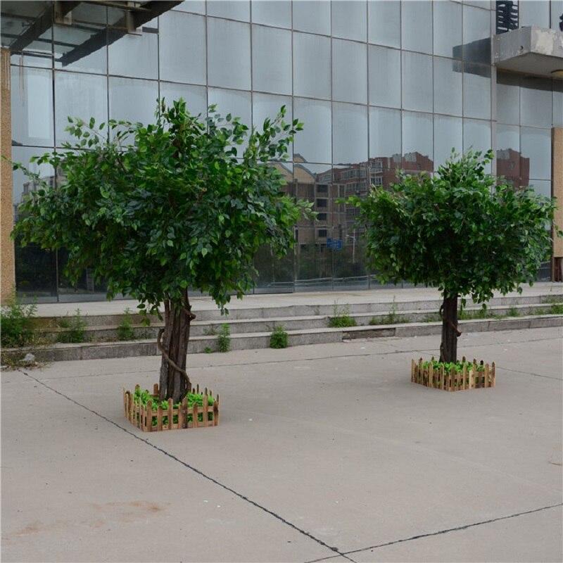 Искусственный фикус, микрокарпа, искусственное большое дерево, поддельные деревья, большое растение, украшение для отеля, лобби, композиция - 3