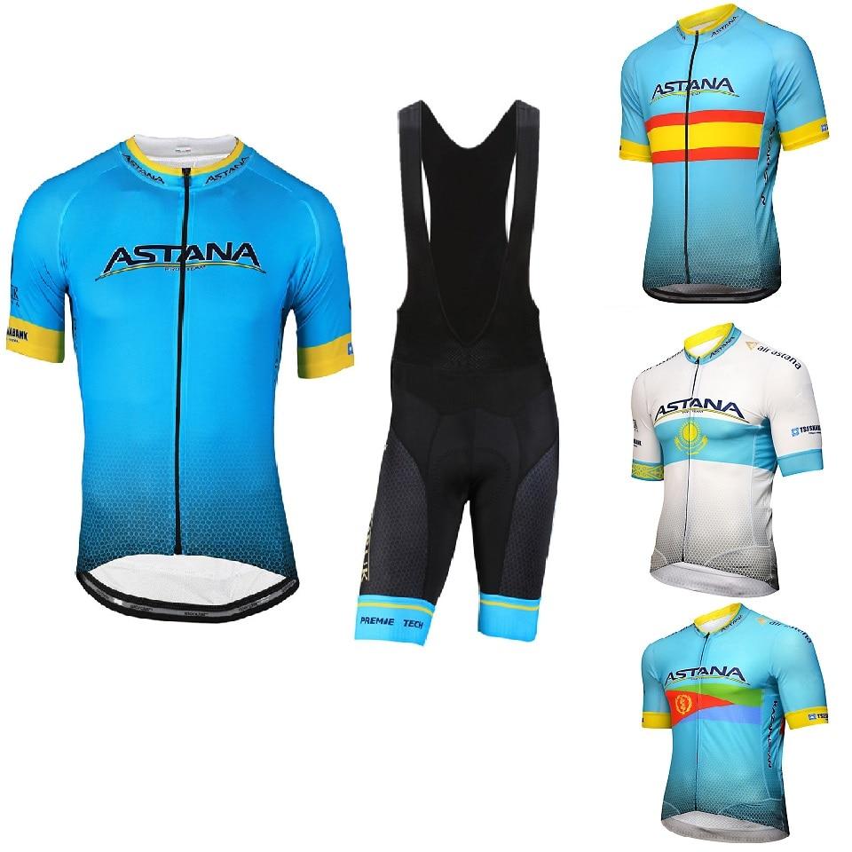 2019 Mens Clothing Cycling ASTANA Jerseys MTB / Summer Team Road Cycliste 9D GEL