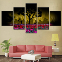 Nordic Plaques Wall Prints 5 Piece Canvas Art Kids Room Decoration Nordic Modular Abstraction Picture Scenery