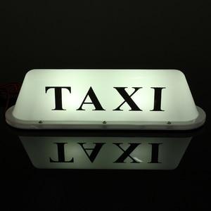 Image 4 - Wit Waterdichte Taxi Magnetic Base Roof Top Auto Cab Led Teken Licht Lamp 12V Pvc
