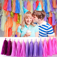 XCONNYX 5Pcs 35cm Tissue Paper Tassels Garland Wedding Decoration Birthday Baby Shower Party Home Paper Craft Supplies