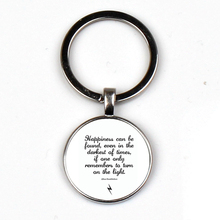 Hottest happiness can be found pendant keychain Dumbledore key ring offer J K Rowling Porter charm gift XKHLHJ