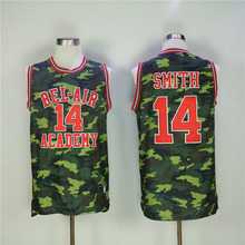 Will Smith Basketball Jerseys #14 Bel Air Academy Camo Green Basketball Shirts