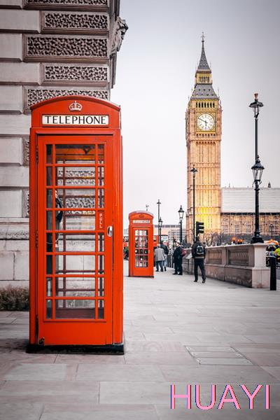 5x7ft public phone booth at street photography photo backdrops for
