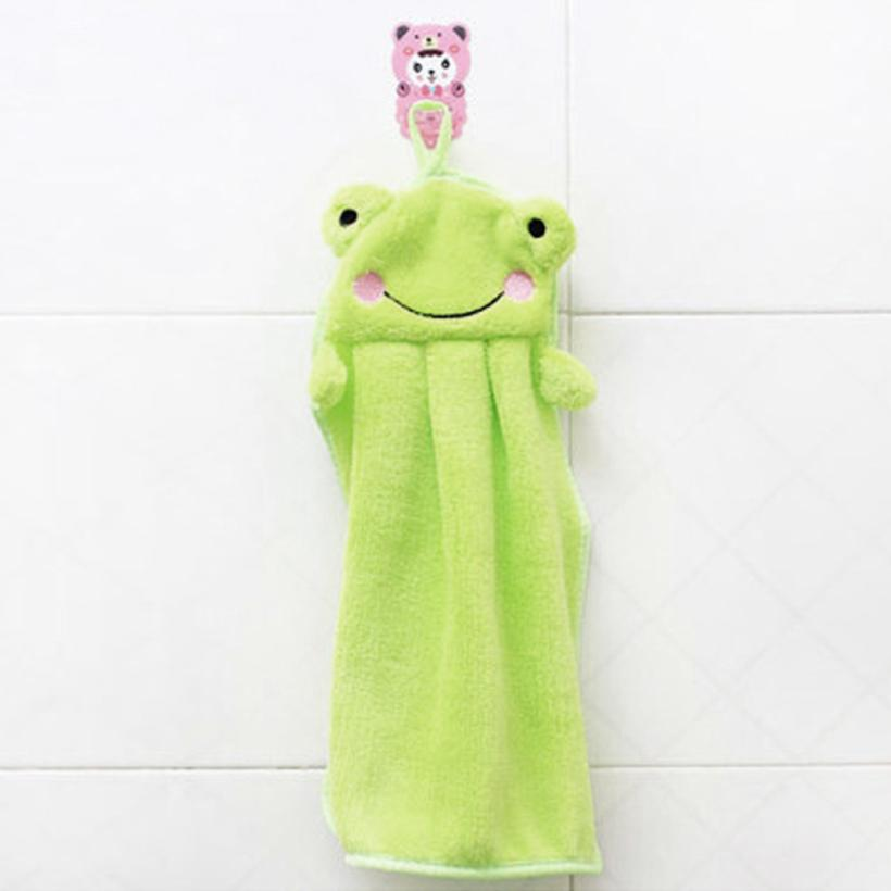 Baby Nursery Hand Towel baby bath towels Soft Plush Cartoon Animal Wipe Hanging Bathing Towel For Children Bathroom 2o0525