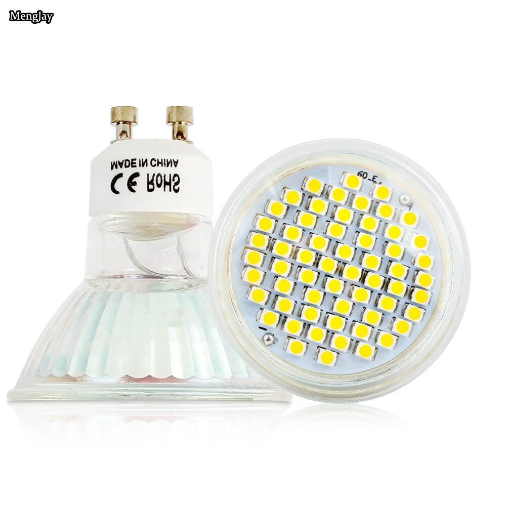 20X lámparas LED de lampara luz 3W GU10 2835 SMD 220VLed lámpara de foco cálido/blanco frío bombillas Led luz con cubierta de cristal de seguridad - 5