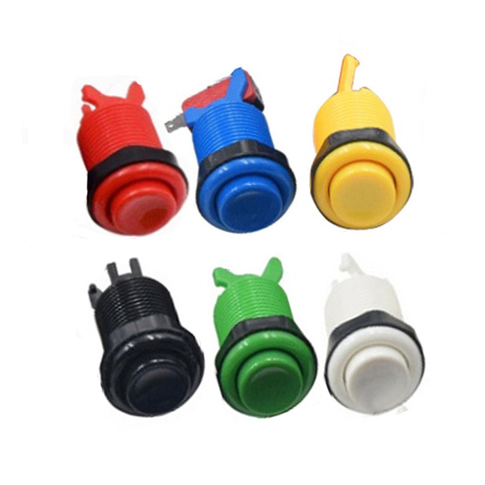 28mm Mounting Hole Arcade push button with microswitch American style push button switch 6 Color