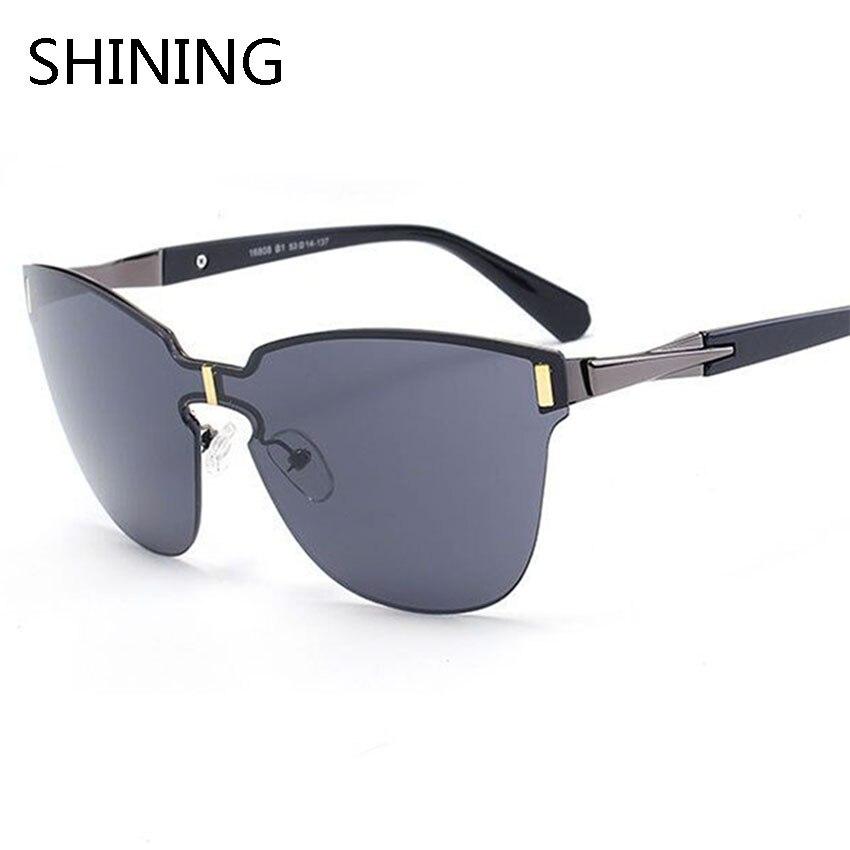 2016 Newest Fashion Rimless Personality Sunglasses Men Women Luxury Brand Designer Coating Mirror Sun Glasses Oculos De Sol