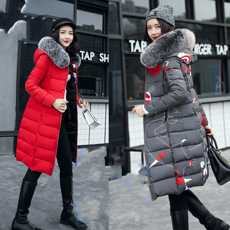 Ryanzhan Both Sides Can Wear 2017 New Long Winter Jacket Coat Female Korean Padded Cotton Coat Thick Women Parka фил коллинз phil collins both sides 2 lp
