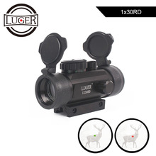 LUGER Tactical 1X30 Red Green Dot Riflescope Holographic Optics Sight Hunting Scope 11mm 20mm Dovetail Rail For Rifle Air Gun цена