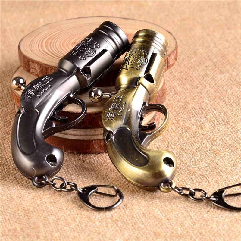 Japanese Classic Anime One Piece Weapon Gun Model Hanging Metal Craft Keychain For Men And Women