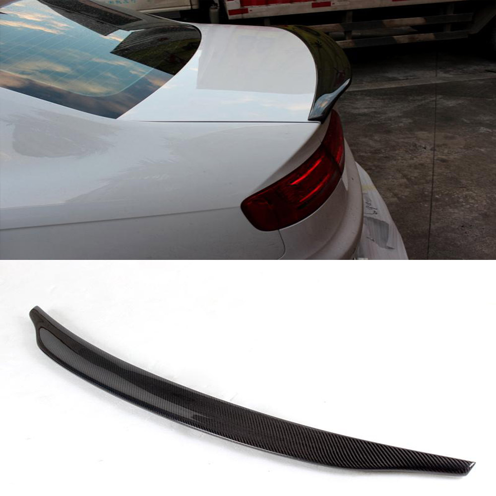Car styling carbon fiber car spoiler trunk wing lip rear spoiler for audi a4 b9 sedan